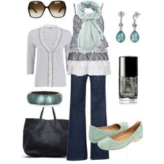 winter blues, created by htotheb on Polyvore