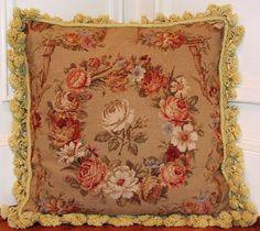 Aubusson Needlepoint Pillow - Gorgeous!