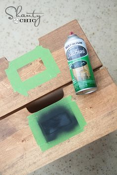 How to make chalkboard labels on furniture... So simple!