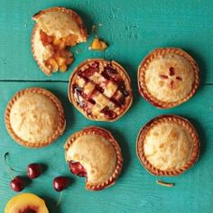 miniature pies. so tempted to buy that pie maker.