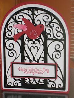 Valentine's Day card using Cricut Ornamental Iron