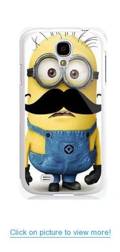 Despicable Me Minion Character- Samsung Galaxy S4 Case Samsung Galaxy I9500 Case-includes Screen Protector and Cleaning Cloth + Free Wristband Accessory