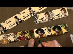 How I use Tim Holtz Ticket Strip DIe  I really love this idea:)