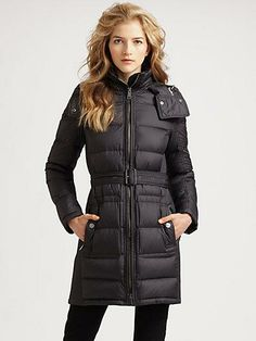 Burberry quilted coat from Saks