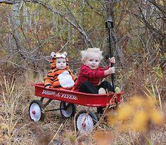Calvin and Hobbes - Halloween costume. ohmigawdtehcute!