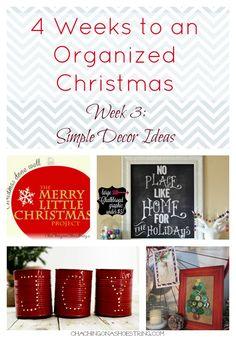 simple christmas decor, ador christma, organ christma, christmas decorations, simpl christma, christma decor, tin cans