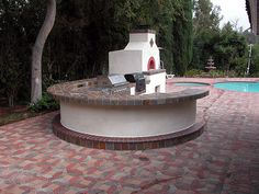Outdoor kitchen on Pinterest | Stained Concrete, Outdoor Kitchens and