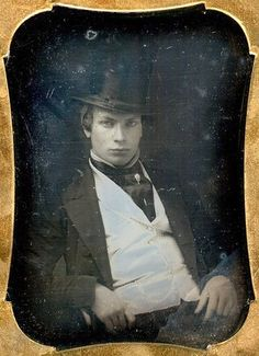 Too cool for old school. #man #Victorian #19th_century #1800s #photograph #antique #vintage #top_hat