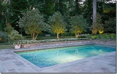 Things That Inspire: Bluestone patio and pool