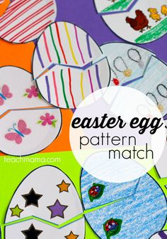 easter egg pattern match game: for kids, by kids | a super-fun way to get kid thinking and creating for cousins and friends at Eastertime