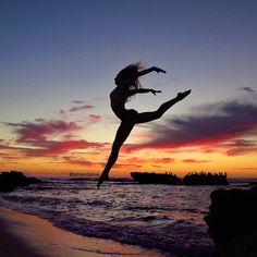 Yoga. At the beach.