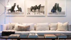 white sofa, Hermes blanket - simple