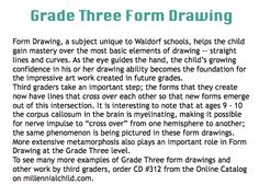 grade three form drawing