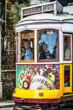 """Visit #Lisbon - """"The Tram 28 was selected by 'Rough Guide To The World' as one of the 1.000 Ultimate Travel Experiences of the world. It's often referred as a slow-motion drive through the historical heart of Lisbon."""" #Portugal travel experi, tram 28, ultim travel, 1000 ultim, histor heart, rough guid"""