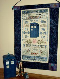 Sampler in Time - Doctor Who  Inspired Cross Stitch Sampler Pattern