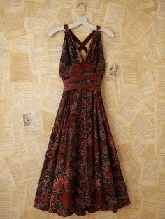 FREE PEOPLE Vintage Batik Printed Maxi Dress