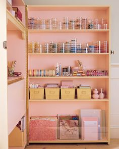 2 bookcases become a hideaway craft/office nook