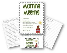 3rd Grade Thoughts: Starting Our Day With Morning Meeting