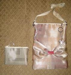 100% place mat handmade satchel purse.