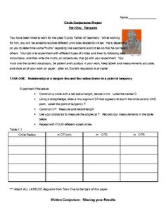 Explaining Geometric theorems can be tricky, but in this 7 page hands-on activity, the students discover and write the conjectures for themselves! ...
