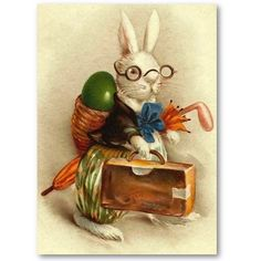 Easter Bunny with Glasses Business Card