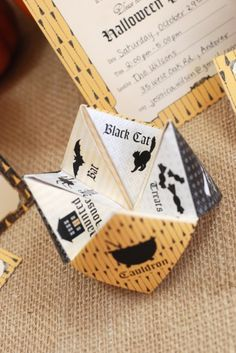 Printable: make your own cootie catcher - cute party idea