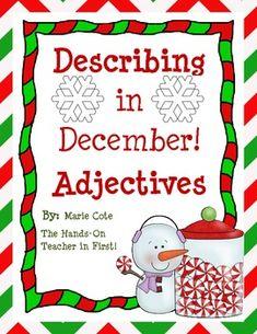 Describing in DECEMBER! Seasonal Adjectives Packet!