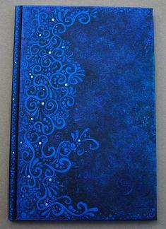 Blue, Blue, Blue Art Journal Cover