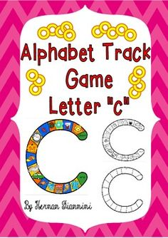 "Alphabet Track Game: Letter ""c"" (3 versions: color; b an"