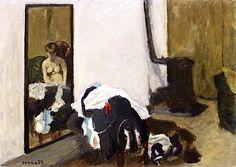 Woman Getting Dressed / Pierre Bonnard - 1906