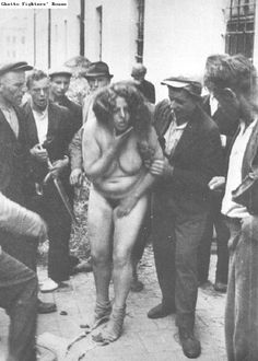 A pogrom in Lviv in 1941, where Ukrainian Nazi collaborators ransacked the city while abusing and murdering Jews