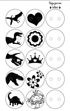 shrinky dink templates for buttons