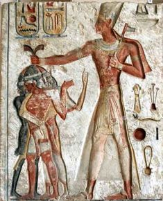 Ramesses II smiting the Nubians