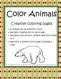 A creative coloring book about animals