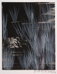 Margaret Yuko Kimura(Japanese/American, b.1968)    Moonlight 8   2004    etching, collage and paint