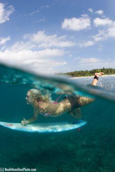 water, surf girls, surfer girls, go girls, duck dive