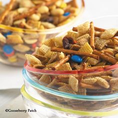 Slow Cooker Family Favorite Party Mix. Fix & forget version of this favorite snack made right in your slow-cooker so you can keep the house cool this summer!