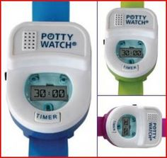 The Potty Watch- plays a song every 30 minutes to remind the child to go to the bathroom. Child has more control over their toilet learning. Haha, awesome.