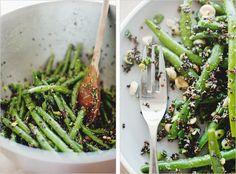 // green bean & black quinoa