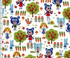 Goldilocks and the Three Bears fabric.