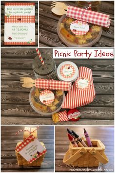 Picnic Party Ideas #Birthday #Picnic http://www.momsandmunchkins.ca/2014/05/02/picnic-party-ideas/