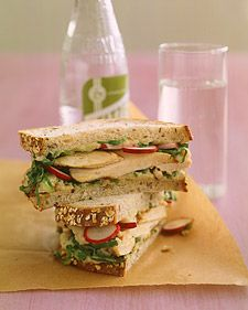 Grilled Chicken and Escarole Sandwich with White-Bean Spread