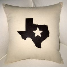 Texas Star Country Pillow -  Shabby Chic Home Decor by frenchcountrydesigns, $18.99 on #Etsy