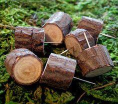 Wood ring pins