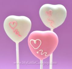 Soft and pretty Valentine Cake Pops made with My Little Cakepop no-bake mold.
