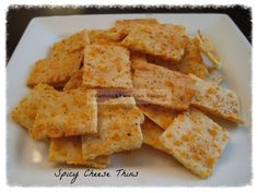 Spicy cheese thins. Like cheese-its.
