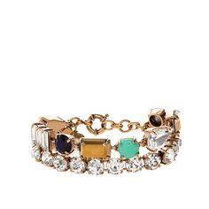 Mixed gems double-strand bracelet