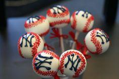 NY Yankees Cake Pops