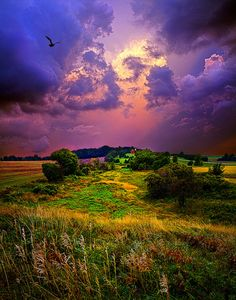 ✯ Purple Skies ~ Palmyra, Wisconsin