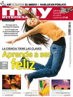 ¿Quieres ser feliz? La ciencia tiene las claves.Esta es nuestra nueva portada del número 394 de marzo de 2014. Dan ganas de saltar ¿verdad?